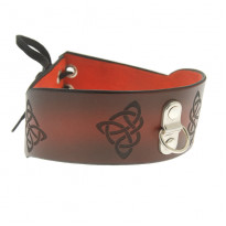 House of Eros Dark Red Celtic Collar with Ring