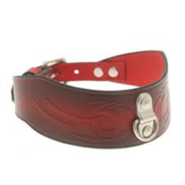 House Of Eros Dark Red Tribal Collar with D Ring - For The Closet