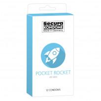 Secura Kondome Pocket Rocket 49MM x12 Condoms