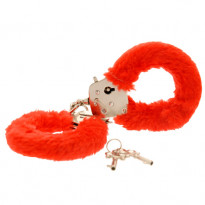 Toy Joy Furry Fun Cuffs Red Plush