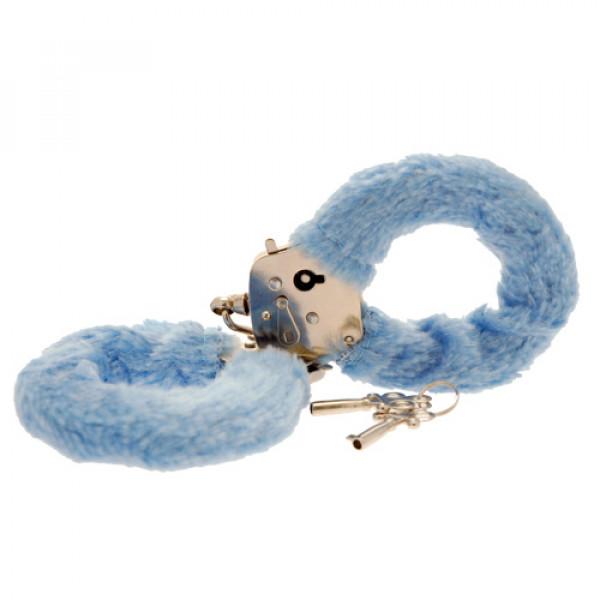 Toy Joy Furry Fun Cuffs Pale Blue Plush