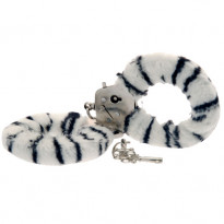 Toy Joy Furry Fun Cuffs Zebra Plush