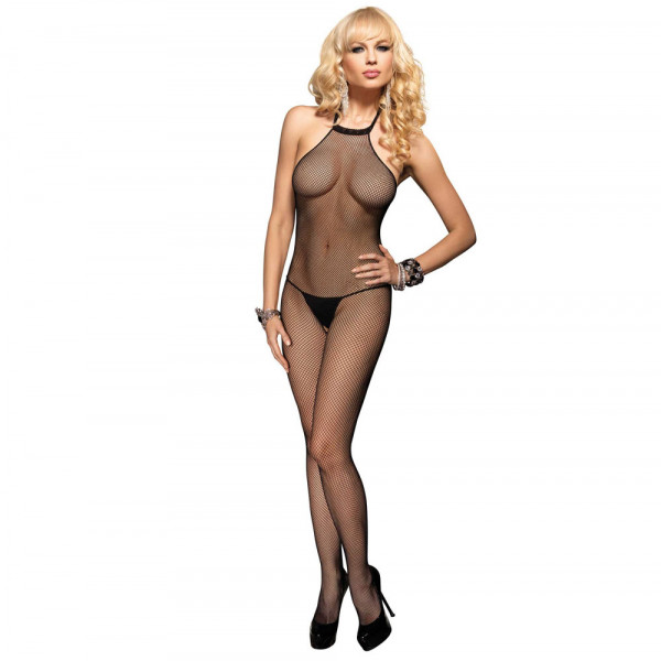 Leg Avenue Seamless High Neck Halter Bodystocking