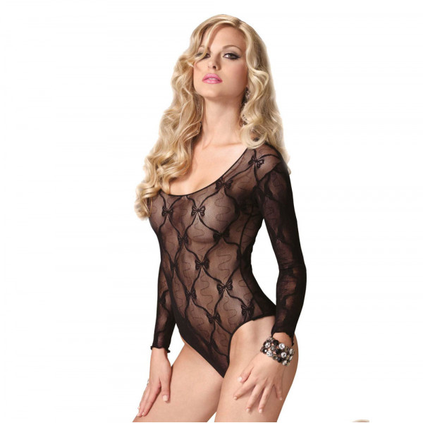 Leg Avenue Bow Lace Teddy - For The Closet