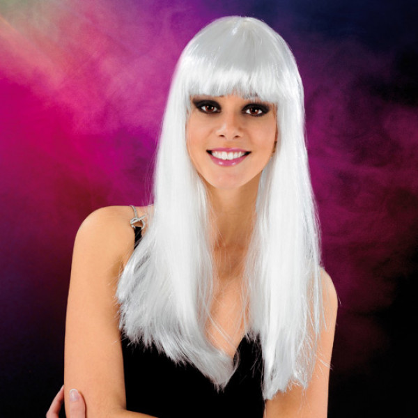 Cabaret Wig White Long - For The Closet