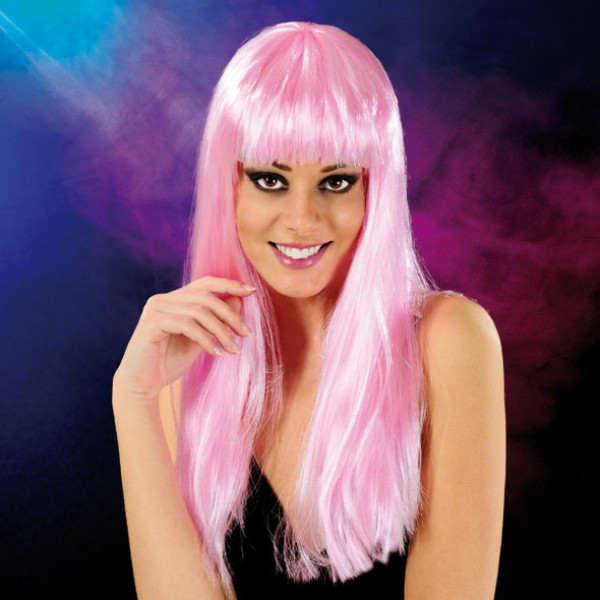 Cabaret Wig Light Pink Long - For The Closet