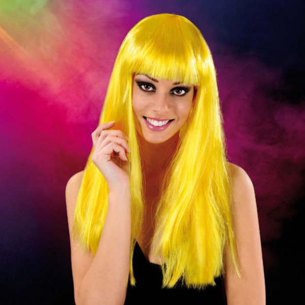 Cabaret Wig Yellow Long - For The Closet