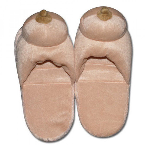 Boob Slippers - For The Closet
