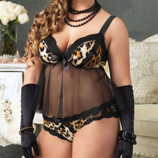 Leg Avenue Babydoll Padded Cups and Panty - For The Closet