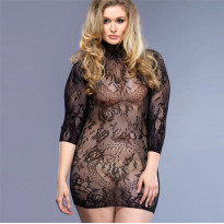Leg Avenue Floral Lace Mini Dress UK 16-18