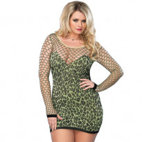 Leg Avenue Seamless Leopard Minidress UK 16-18