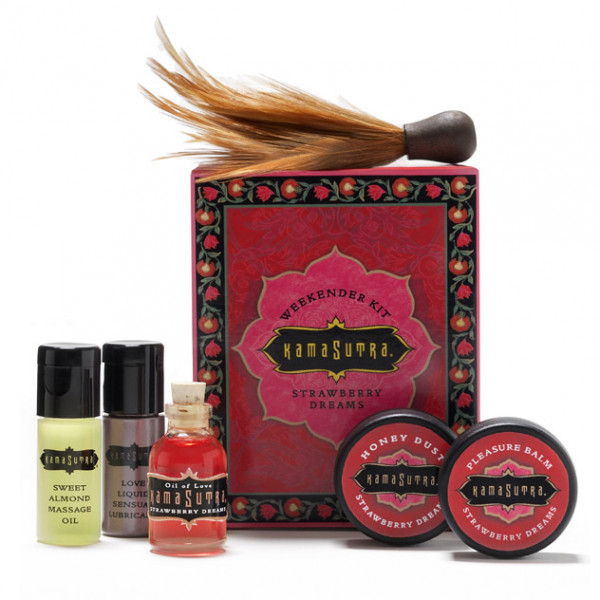 Kama Sutra Strawberry Weekender Gift Set - For The Closet