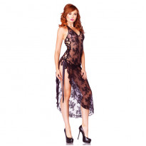 Leg Avenue Rose Lace Long Dress One Size UK 8-12