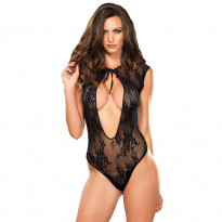Leg Avenue Stretch Lace G-String Teddy UK 8-12