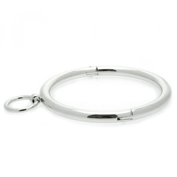 Ladies Rolled Steel Collar with Ring - For The Closet