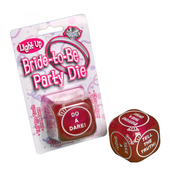 Flashing Bride to Be Party Dice - For The Closet