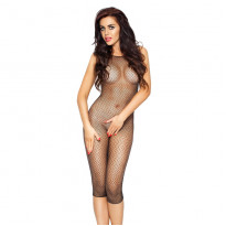 Passion Cropped Leg Body Stocking Black