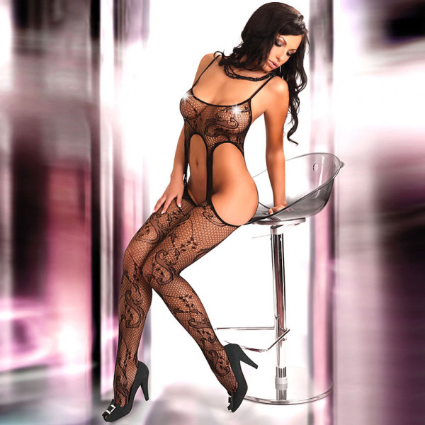Corsetti Praline Body Stocking UK Size 8-12