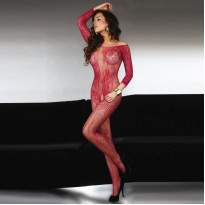 Corsetti Abra Bodystocking Maroon UK Size 8-12