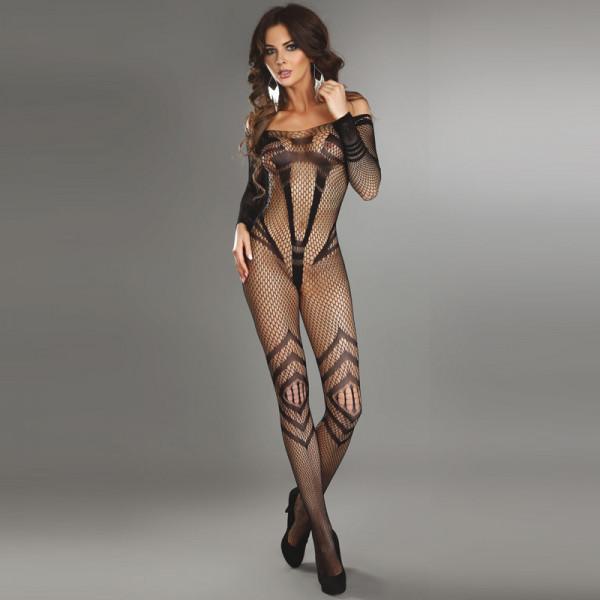 Corsetti Siriana Bodystocking Black Size 8-12
