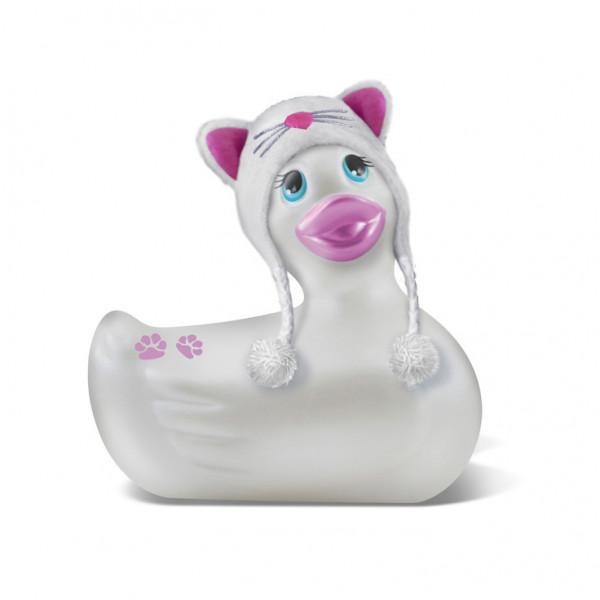 I Rub My Duckie Travel Size Hoodie Kitty White