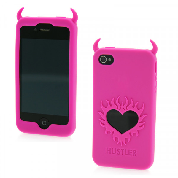 Hustler Silicone iPhone 4 and 4s Pink Horny Heart Case - For The Closet