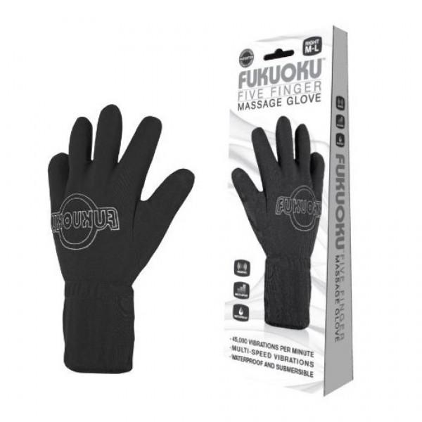 Fukuoku Five Finger Massage Glove  Left Hand
