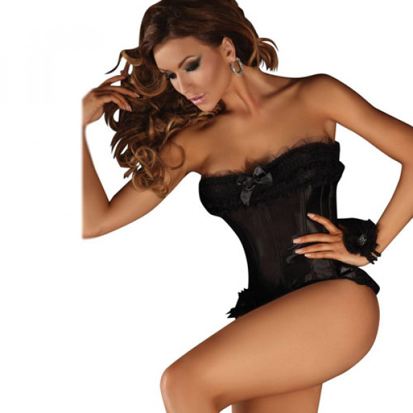 Corsetti Black Corset Minthe - For The Closet