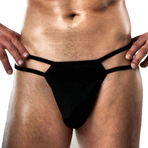 Passion Black Thong - For The Closet
