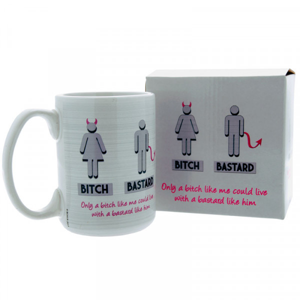 Humour Mug Bitch/Bastard - For The Closet