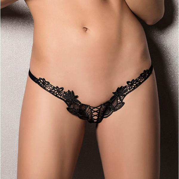 Passion Athena Thong Black