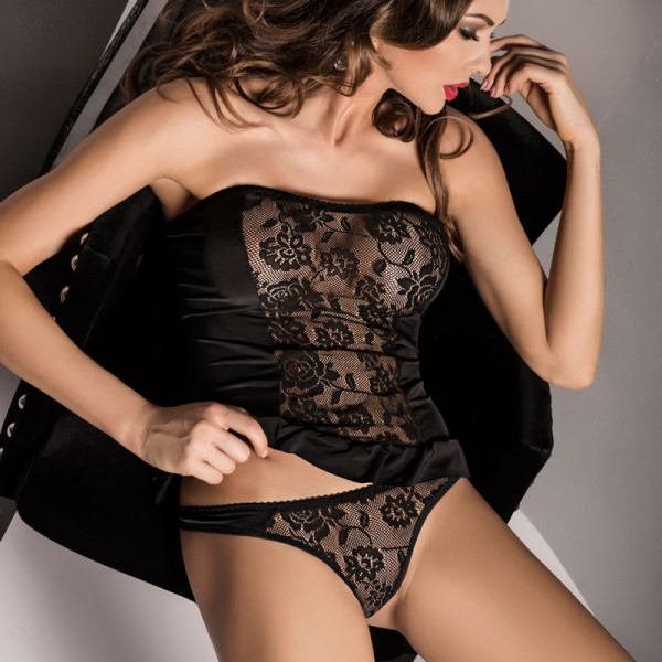 Passion Carley Set Black - For The Closet