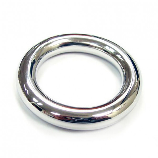 Rouge Stainless Steel Round Cock Ring 40mm