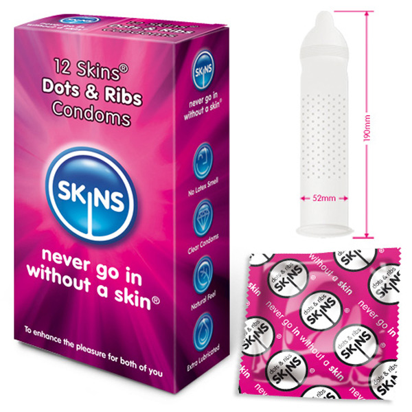 Skins Condoms Dots and Ribs 12 Pack - For The Closet
