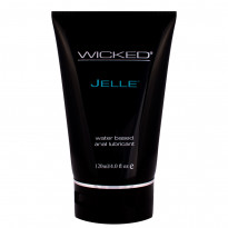 Wicked Jelle Water Based Anal Lubricant Unscented 120mls