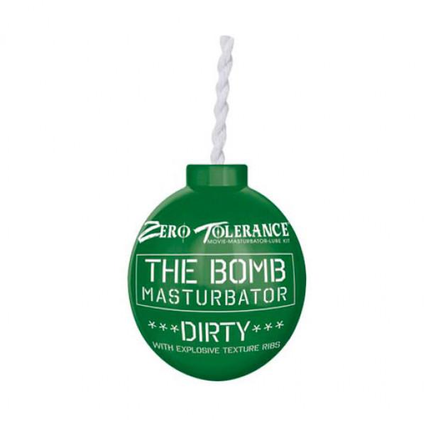 The Bomb Masturbator Dirty Textured Stroker Sleeve Green