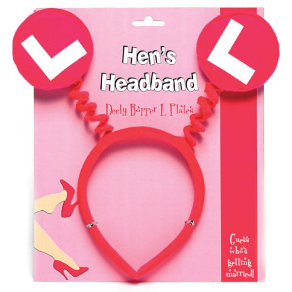Hens L Plates Headband - For The Closet