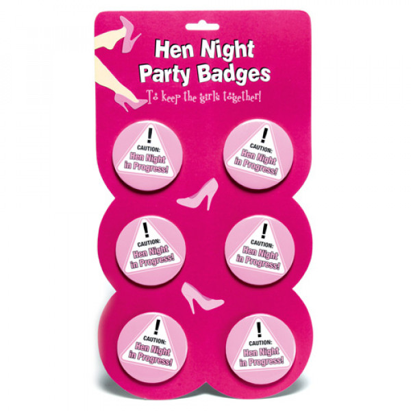 Hen Night Party Badges - For The Closet