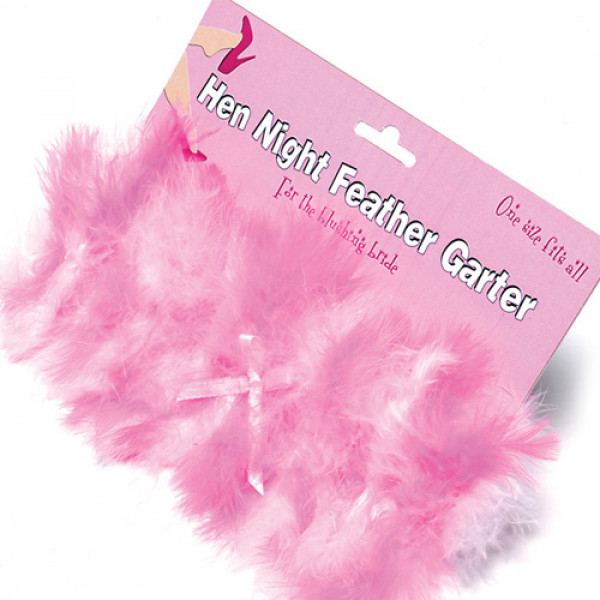 Hen Night Feather Garter - For The Closet