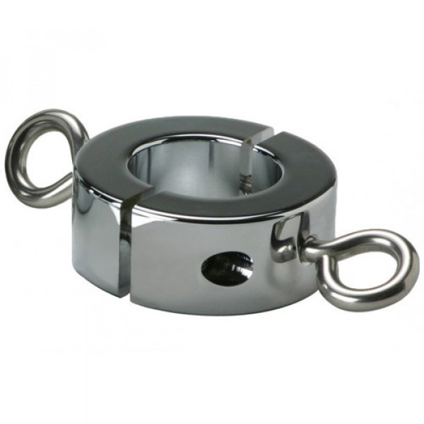 Ball Stretcher Cockring with Hooks 16oz - For The Closet
