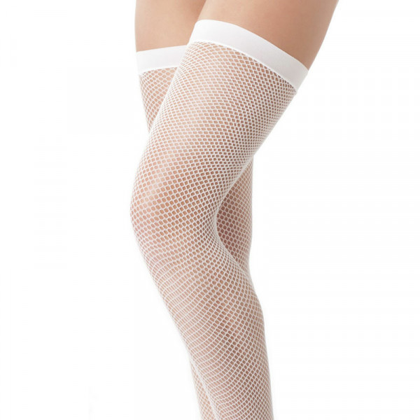 White Fishnet Stockings - For The Closet