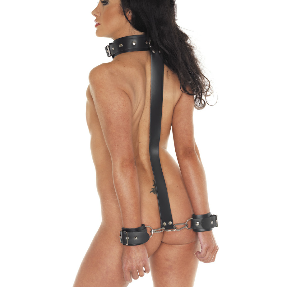 Bondage wrists behind neck