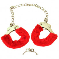 Red Furry Ankle Cuffs
