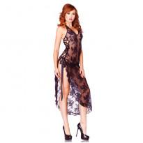 Leg Avenue Rose Lace Long Dress One Size UK 8-12