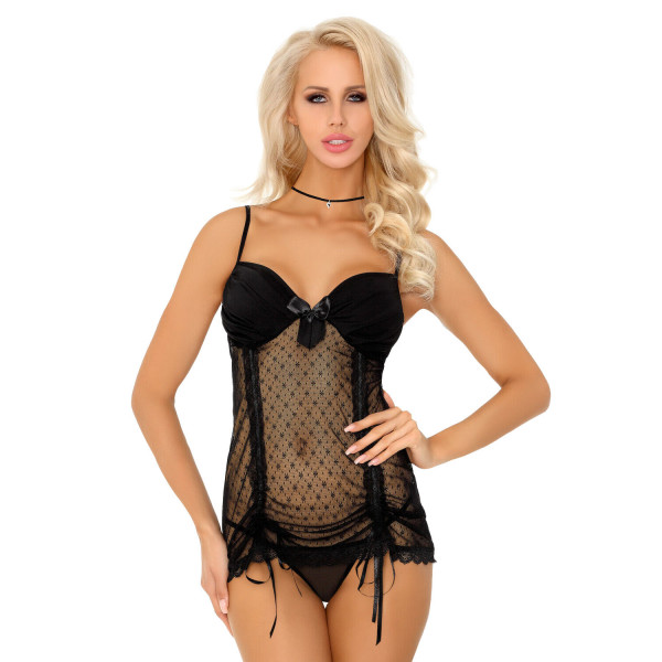 Corsetti Bakosana Black Chemise And Thong