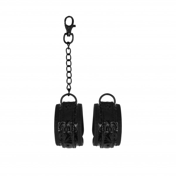 Ouch Luxury Black Hand Cuffs