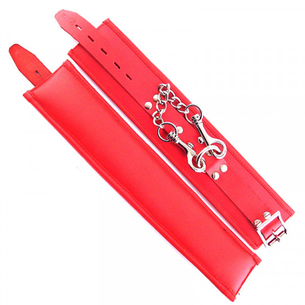 Rouge Garments Wrist Cuffs Padded Red