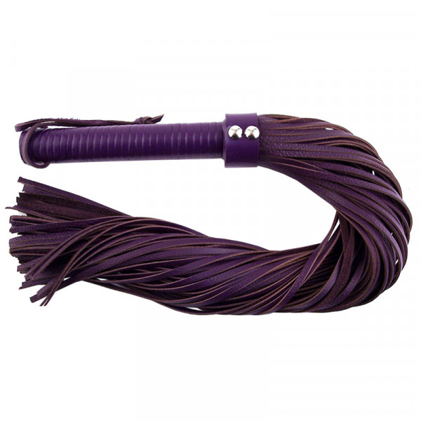 Rouge Garments Large Purple Leather Flogger