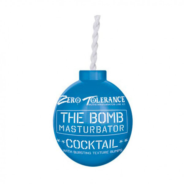 The Bomb Masturbator Cocktail Textured Stroker Sleeve Blue