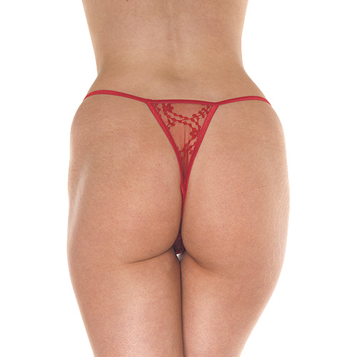 Red Mini Tanga Thong - For The Closet